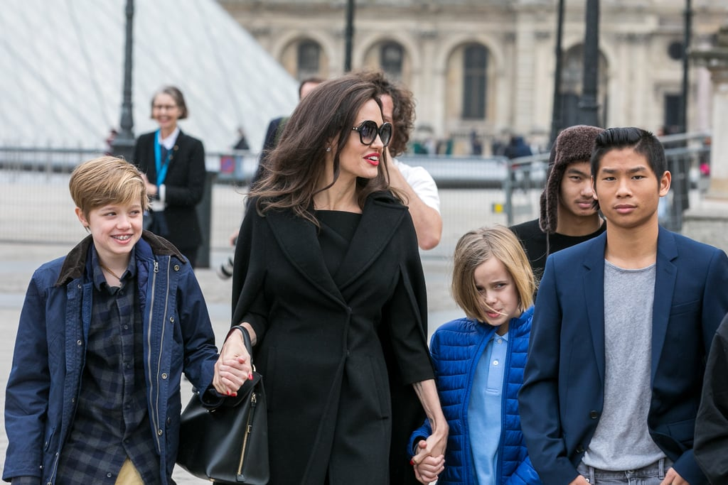 Image result for angelina jolie kids paris