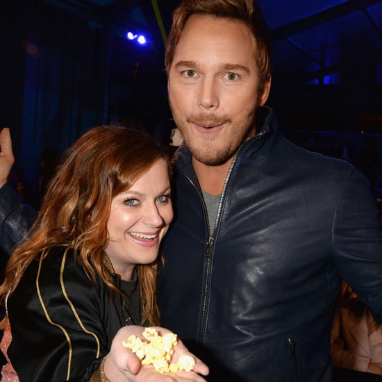 Chris Pratt and Amy Poehler at the MTV Movie Awards 2016