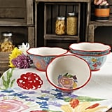 The Pioneer Woman Celia Teal 6.75-Inch Bowls, Set of Four