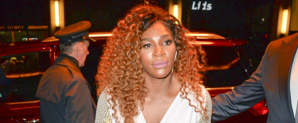 Serena Williams Fur Slides at Being Serena Premiere