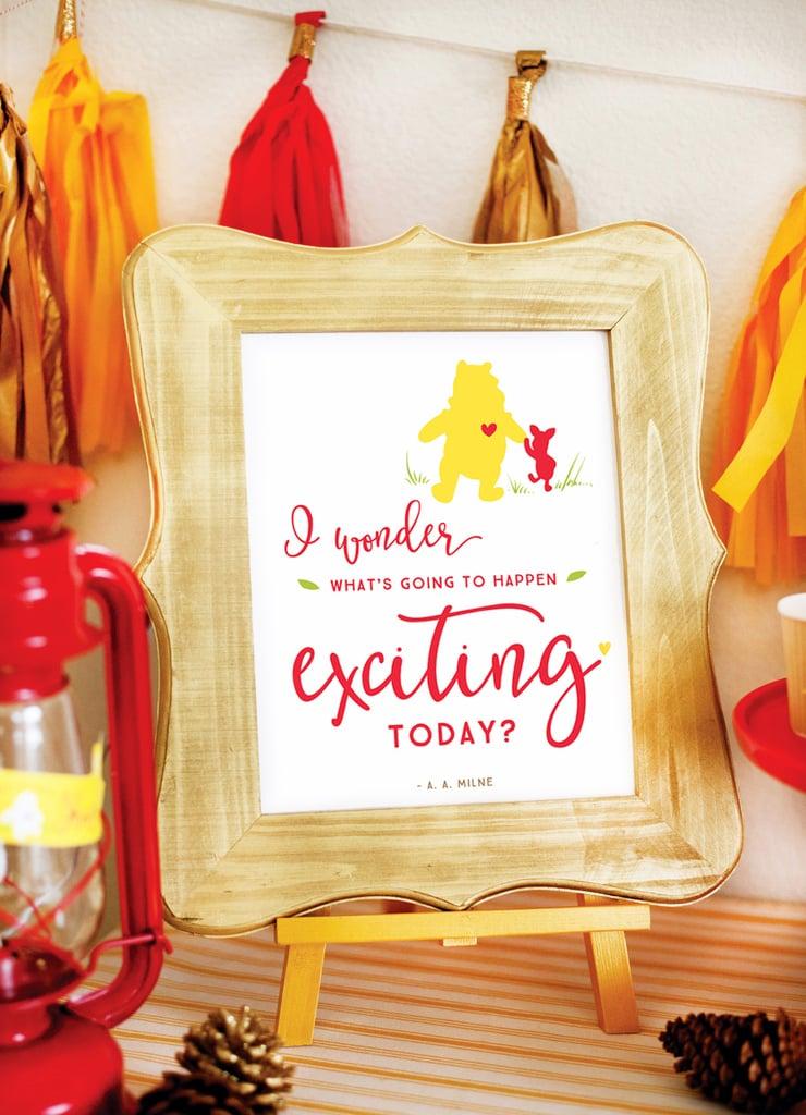 Pretty Winnie The Pooh Baby Shower Ideas Popsugar Moms Photo 1