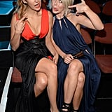 Nina Dobrev and Julianne Hough got silly together in the VMAs audience.