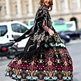 Anna Dello Russo's street style looks more like the finale of a runway show.
