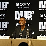 Will Smith answered questions for the press about his new film MIB3.