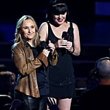 Melissa Etheridge and Pauley Perrette spoke to the crowd.