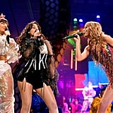 Camila Cabello With Charli XCX and Taylor Swift