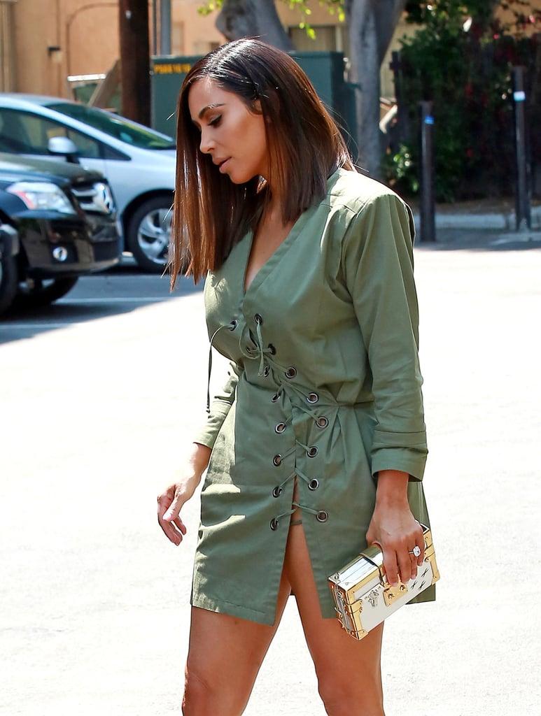 Kim Kardashian's Asymmetrical Haircut   Summer 2016