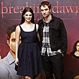 Ashley Greene and Robert Pattinson posed together for photographers in Brussels.