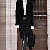 Victoria Beckham Fall/Winter 2020: VB's Essential Winter Shoe? A Leather Platform Thigh-High Boot