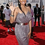 La La Anthony stepped onto the red carpet at the BET Awards in LA.