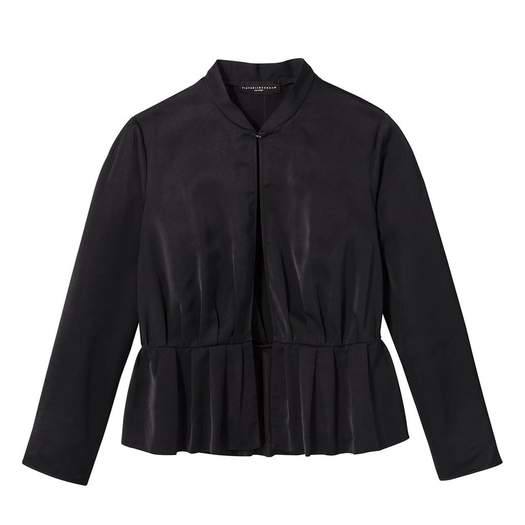 Women's Plus Black Peplum Jacket  ($35)