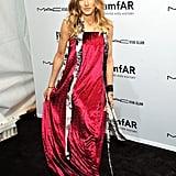 Sarah Jessica Parker walked the red carpet at the amfAR New York Gala.