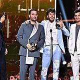 Sebastián Yatra and Reik Accepting Premio Lo Nuestro