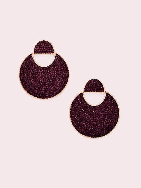 Mod Scallop Pavé Drop Earrings