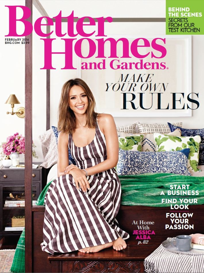Jessica Alba and Daughters in Better Homes and Gardens