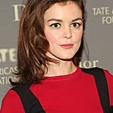 Nora Zehetner made an excellent case for heavy-handed blush. Her rosy flush got a boost with simple liner and a hint of color on the lips.