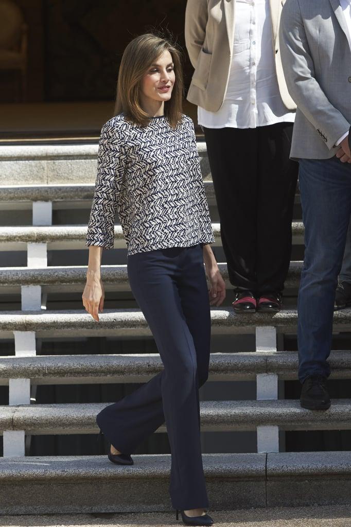 Queen Letizia's Flared Pants June 2016