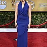 Jordin Sparks wore a blue gown for the SAG Awards.