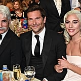 Pictured: Sam Elliott, Bradley Cooper, and Lady Gaga