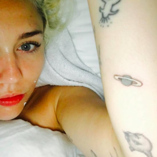 Miley Cyrus Saturn Tattoo
