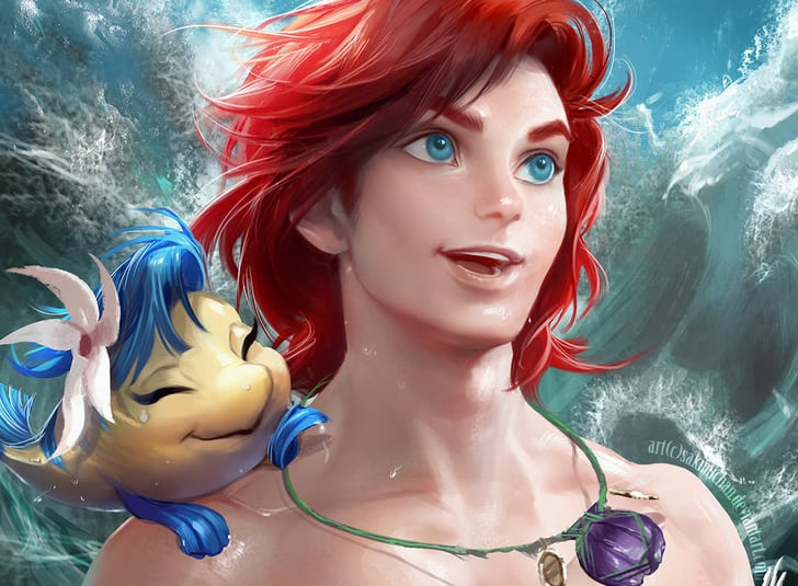 Gender-Flipped Disney Princess Paintings