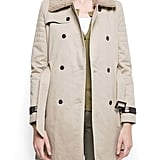 A cozy shearling collar and leather details give this trench an extra-polished touch.  Mango Faux Collar Trench ($130)
