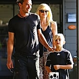 Gwen Stefani and Gavin Rossdale were out and about in LA on Saturday with Kingston.