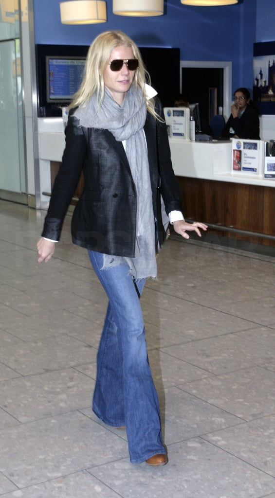 Pictures of Gwyneth Paltrow at Heathrow