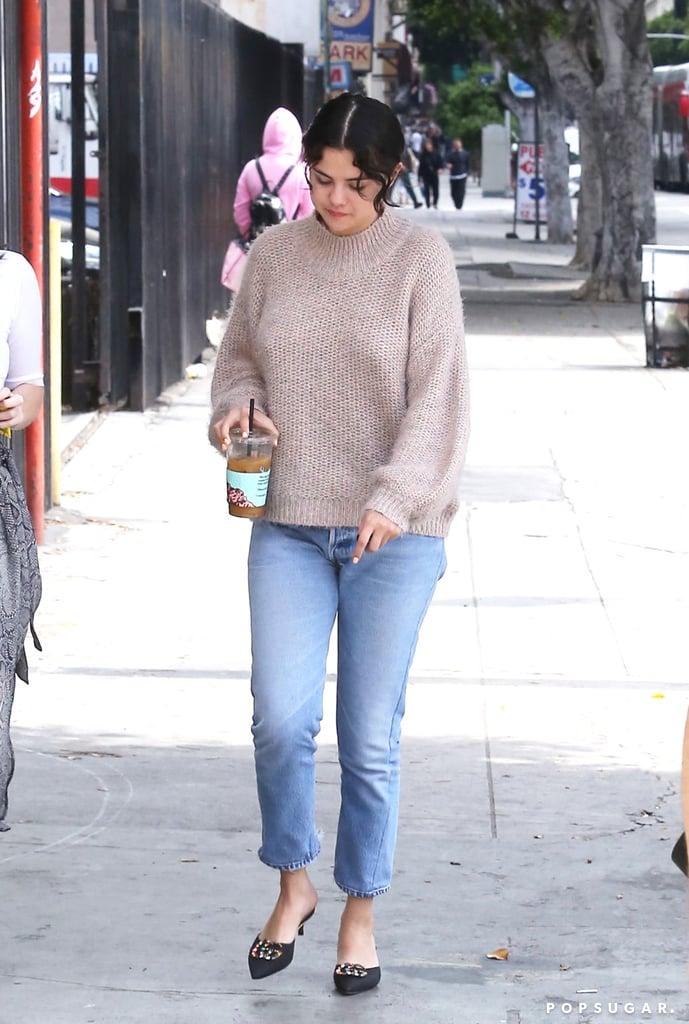 Selena Gomez S Gucci Mules Easter 2019 Popsugar Fashion
