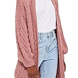 Topshop Long Open Front Cardi Sweater