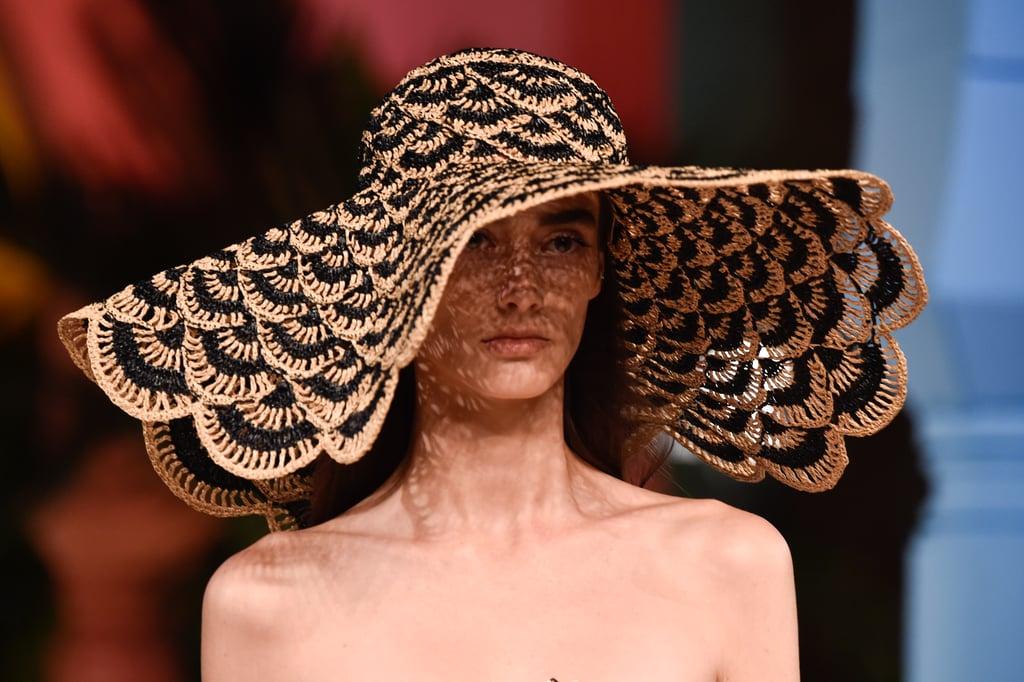 A Hat on the Oscar de la Renta Runway During New York Fashion Week