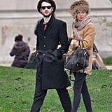 Tom Sturridge and Sienna Miller strolled in France.