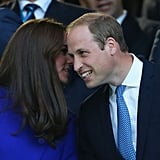 The duo shared sweet whispers during the opening ceremony of the Rugby World Cup Pool match in London in September.