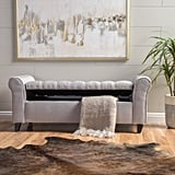 Claxton Upholstered Flip top Storage Bench