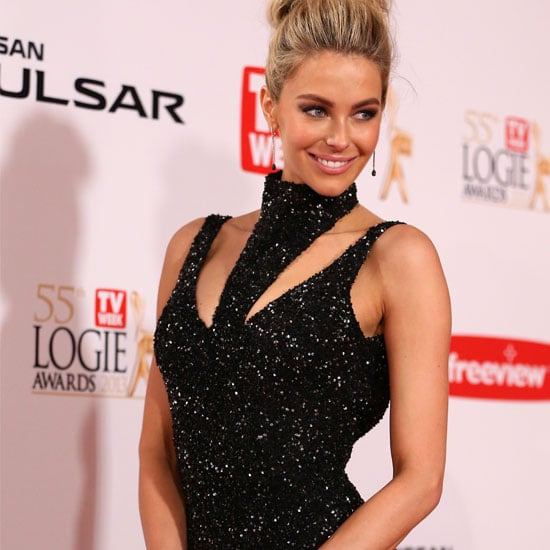 Pictures of Jennifer Hawkins in Jayson Brunsdon 2013 Logies