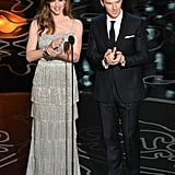 She presented an award on stage with Benedict Cumberbatch.