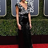 Laura Harrier at the 2019 Golden Globes