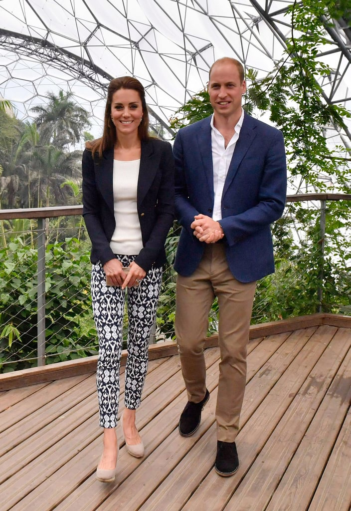 Duchess of Cambridge Wears Gap Printed Trousers Sept 2016