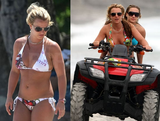 Photos of Britney Spears in a Bikini on Vacation with Mel Gibson