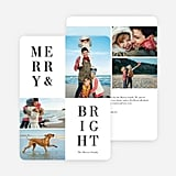 Merry and Bright Card from Paper Culture ($2-$3 per card)