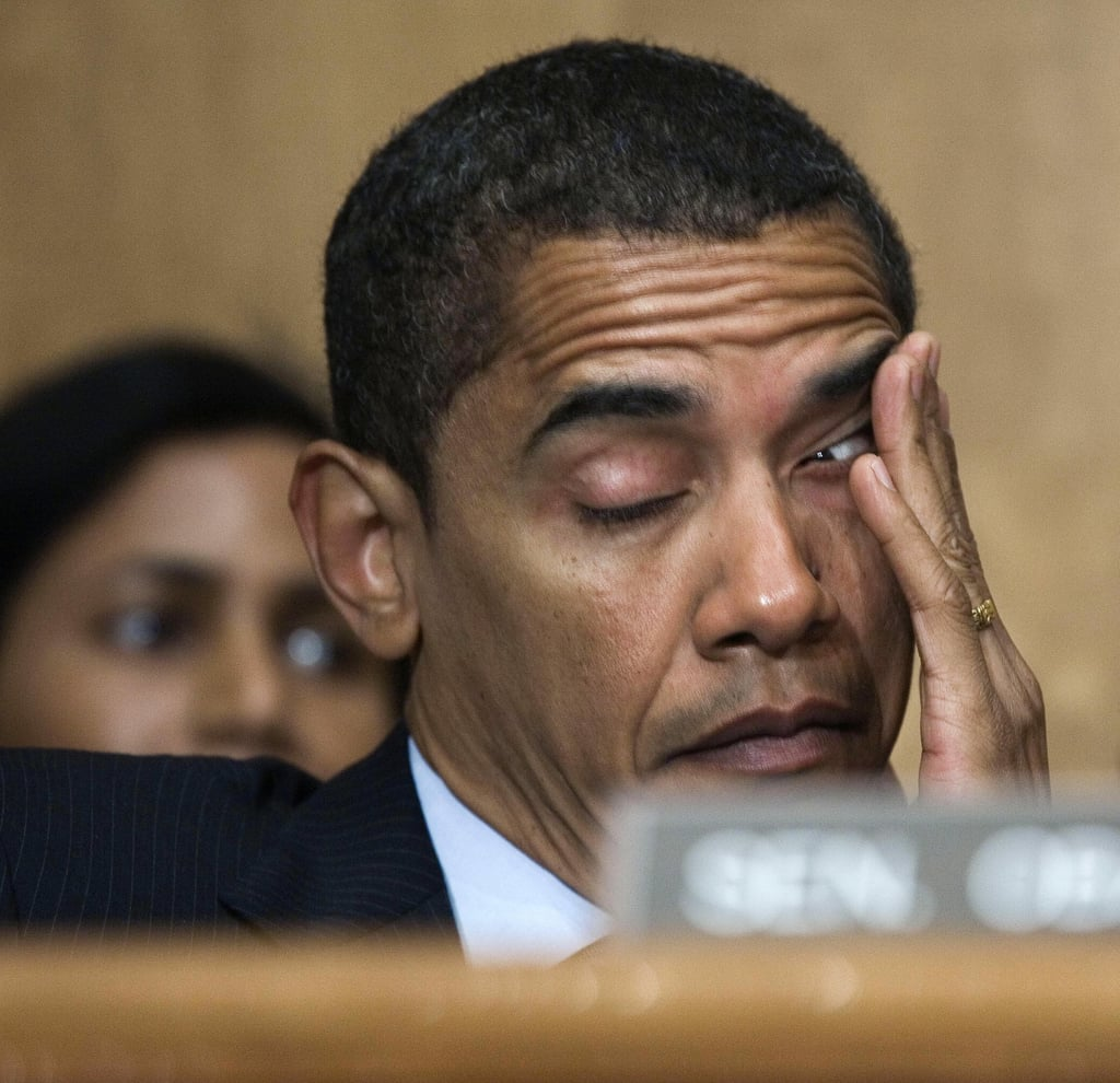 Struggling To Stay Awake At A Senate Homeland Security Committee Meeting In  2007  Stay Awake