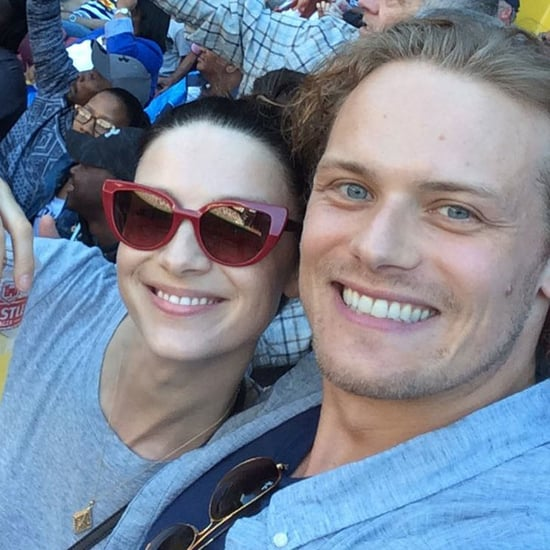 Sam Heughan and Caitriona Balfe at Rugby Game April 2017