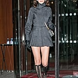 Bella Hadid's Dior Lace-Up Black Boots