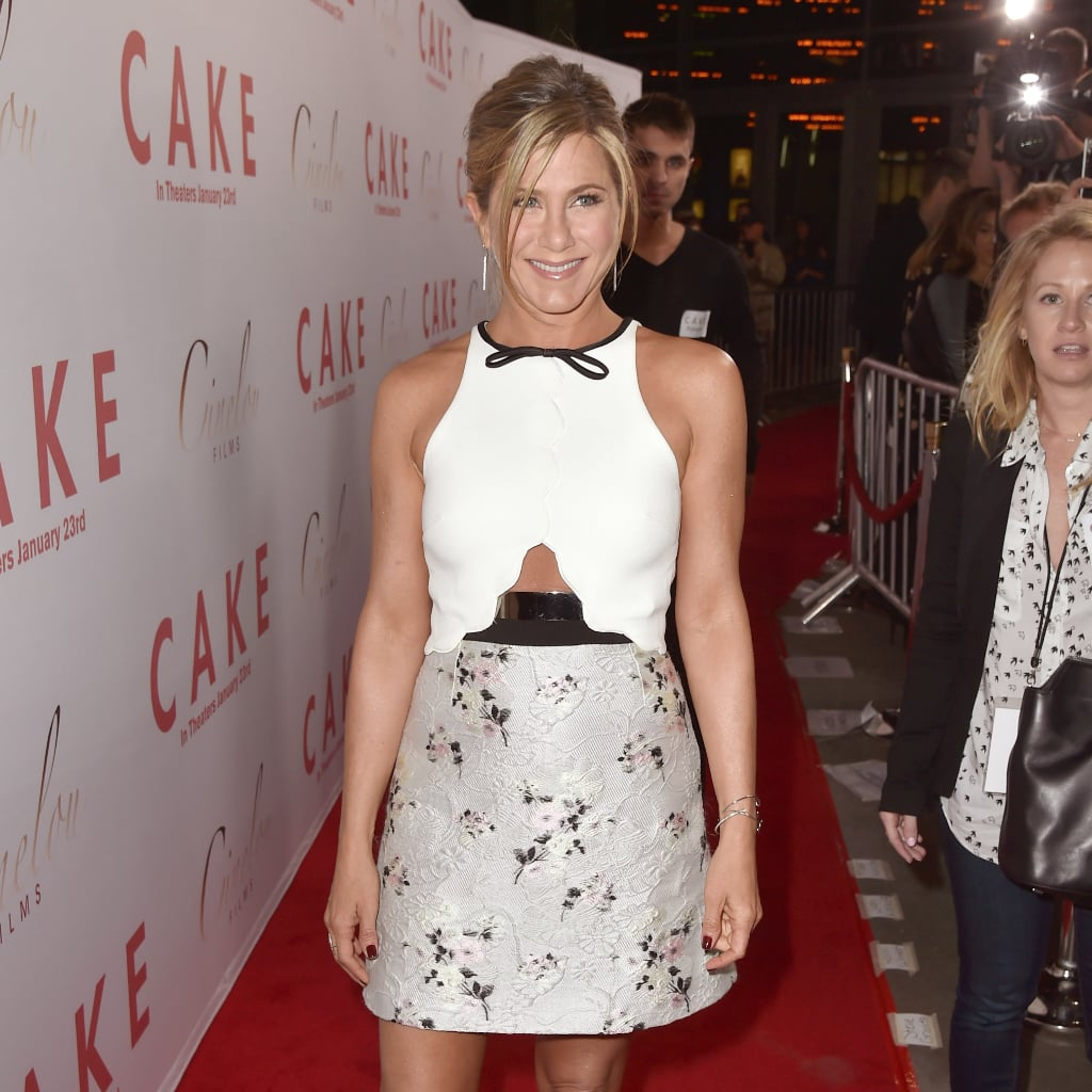 Jennifer Aniston Cake Premiere Dress Popsugar Fashion