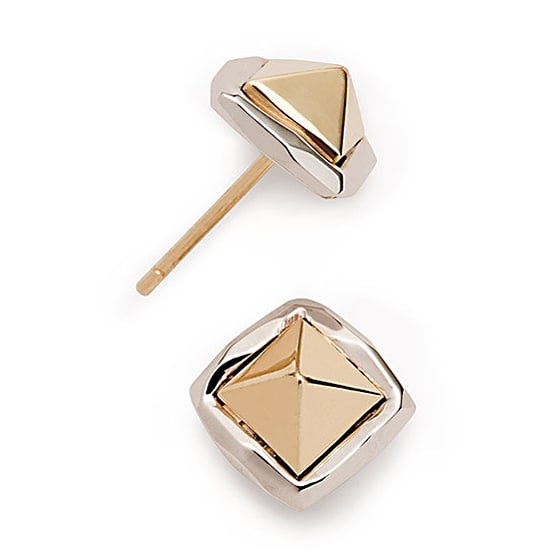 Ron Hami Two-Tone Pyramid Studs, $935