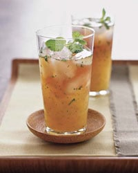 Refreshing Nonalcoholic Pineapple Pomegranate Mint Drink Recipe