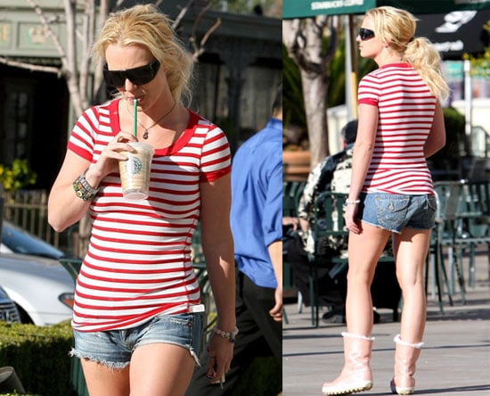 Britney Out With Starbucks
