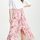Costarellos Printed Asymmetrical Skirt