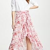 Costarellos Printed Asymmetrical Skirt