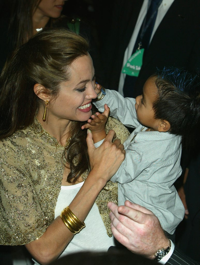Angelina and Maddox were as cute as can be at the Shark Tale premiere during the 2004 Venice Film Festival.
